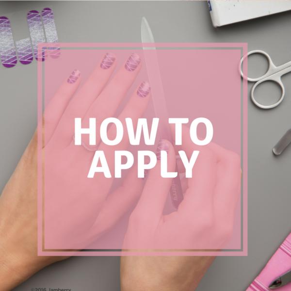 Jamberry nail wrap application
